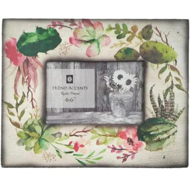 Succulent Wood Picture Picture Frame, 4x6
