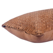 Suede Basket Weave Long Lumbar Pillow