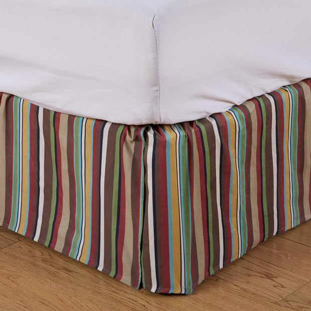 "Tammy Western Multicolor Stripe Bedskirt (16""/18"" Drop)-Bed Skirt-HiEnd Accents"