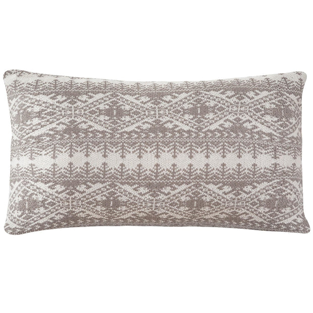 Fair Isle Knit Body Pillow - Taupe