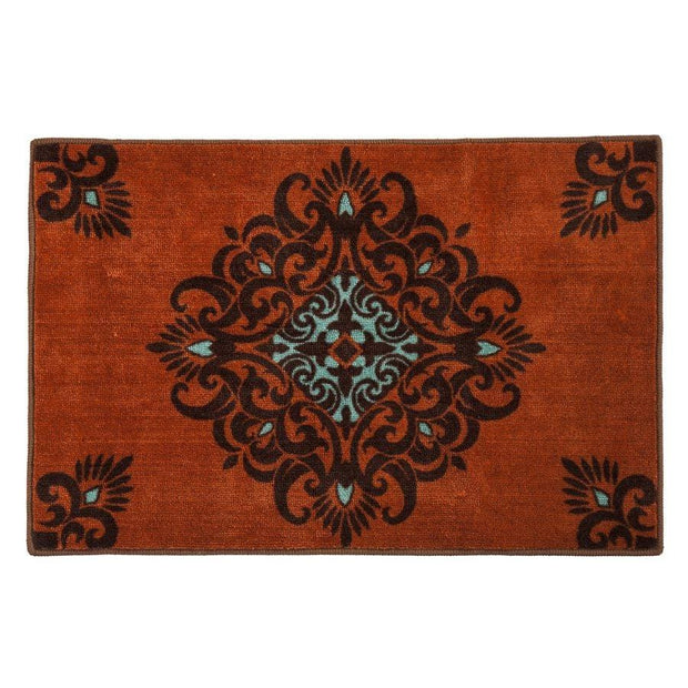 Terra Cotta Medallion Southwest Kicthen/Bath Rug
