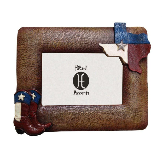Texas Flag & Boots Picture Frame, 4x6