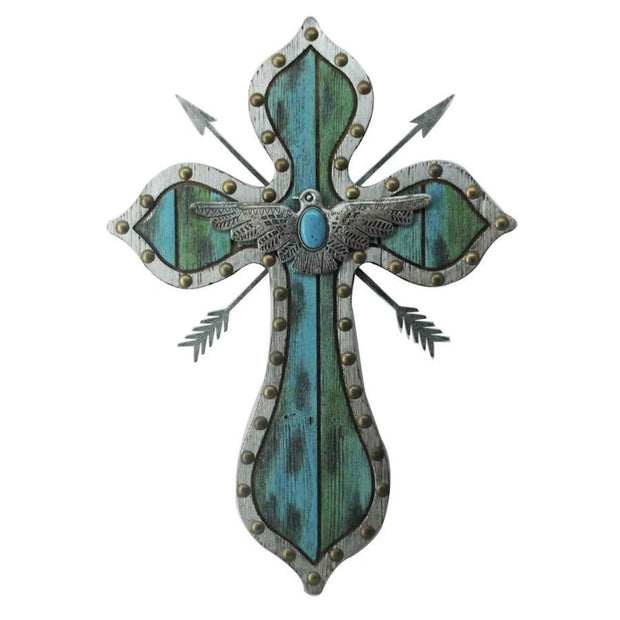 Thunderbird Arrow Turquoise Cross Wall Art