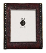 Tooled Leather w/ Studded Sides Picture Frame, 4x6