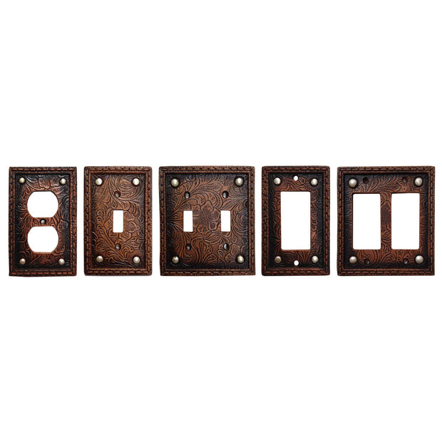 Tooled Resin w/ Stud Single Rocker Wall Switch Plate