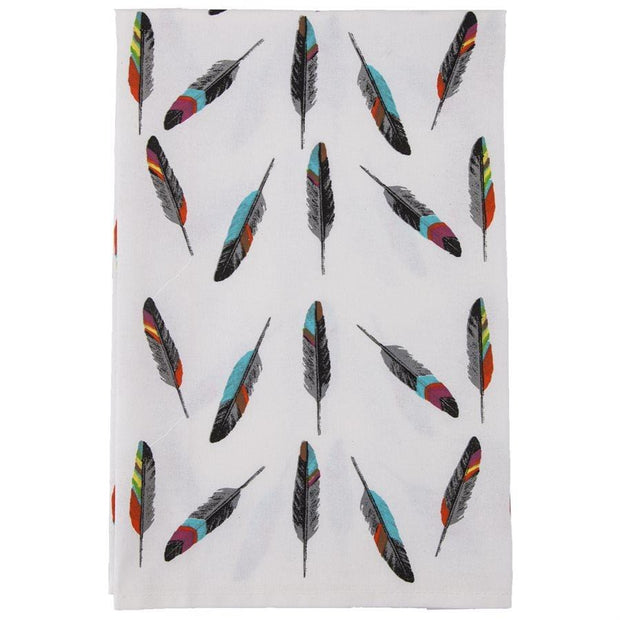 Tossed Feather 5-PC Southwestern Tea Towel Set