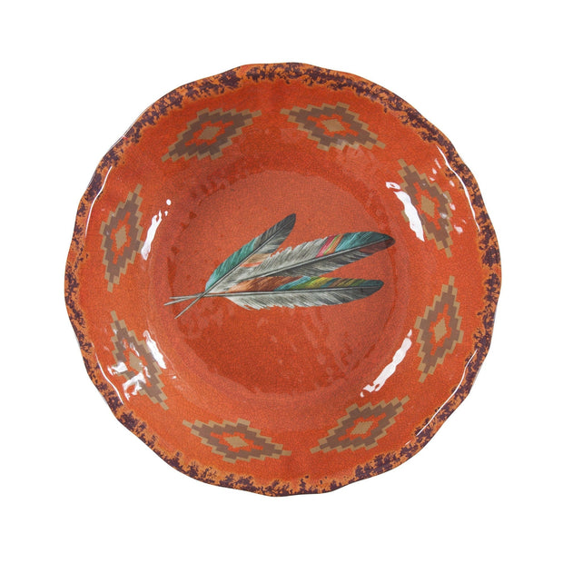 Tossed Feather Southwestern Melamine Serving Bowl (EA)