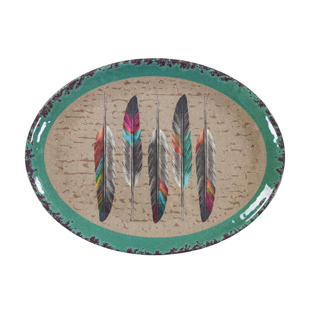Tossed Feather Southwestern Melamine Serving Platter (EA)