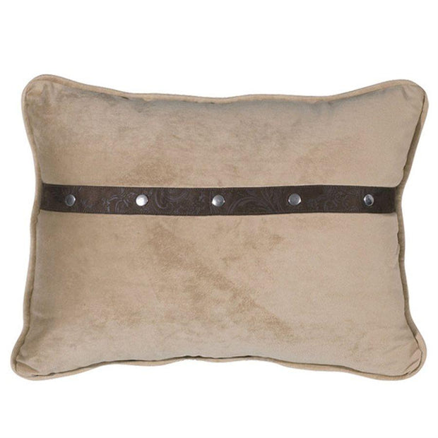 Tucson Light Chocolate Lumbar Pillow, Soft Fawn