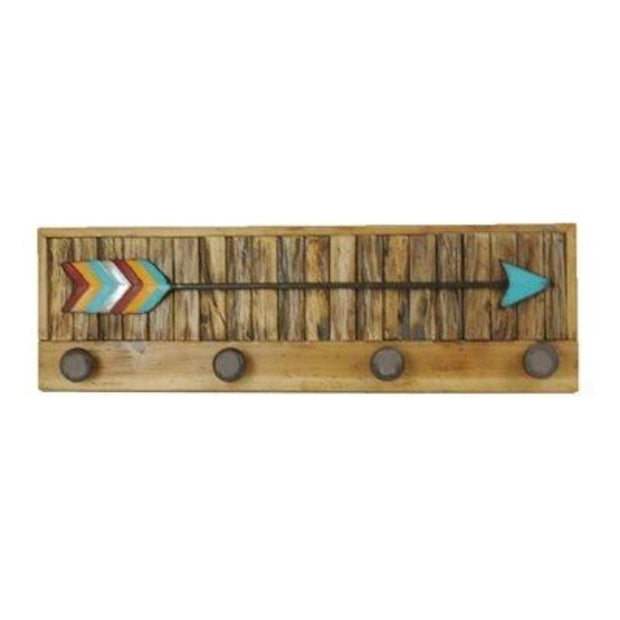 Turquoise Arrow w/ Knobs Wall Hanging