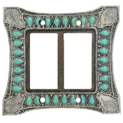 Turquoise Double Rocker Switch Wall Plate