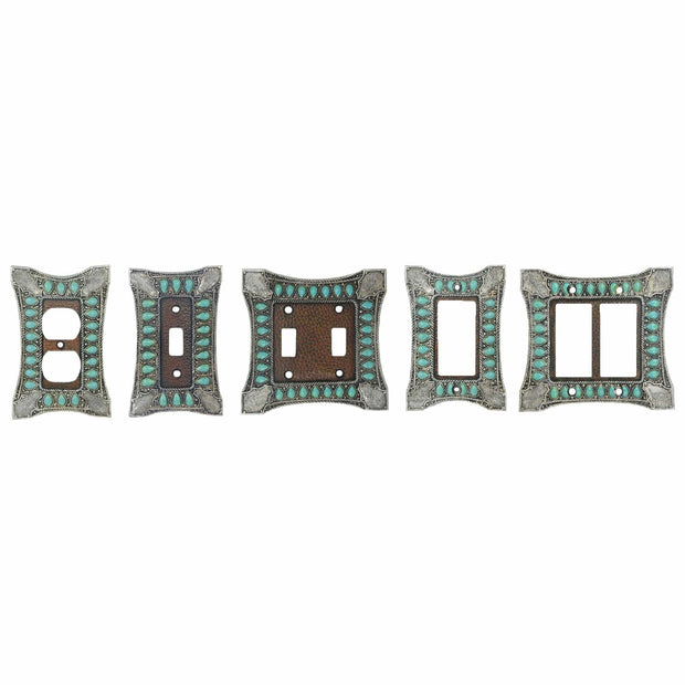 Turquoise Single Rocker Wall Switch Plate