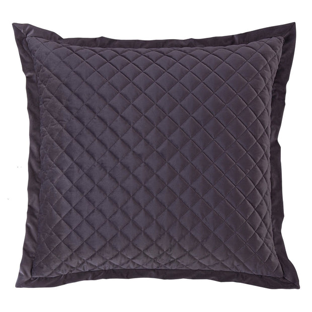 Velvet Diamond Quilted Euro Sham, 6 Colors