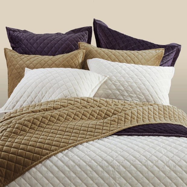 Velvet Diamond Quilted Euro Sham (6 Colors)