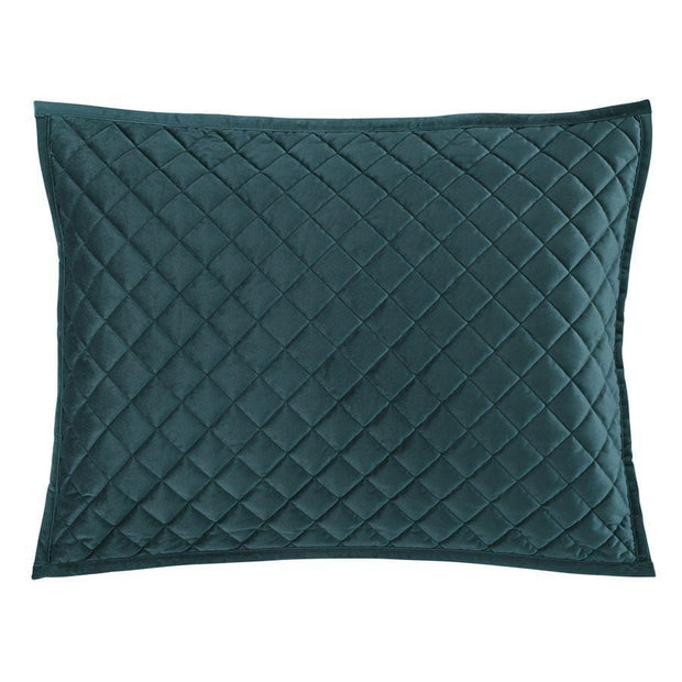 Velvet Quilted Pillow Sham - Standard/King (PAIR)