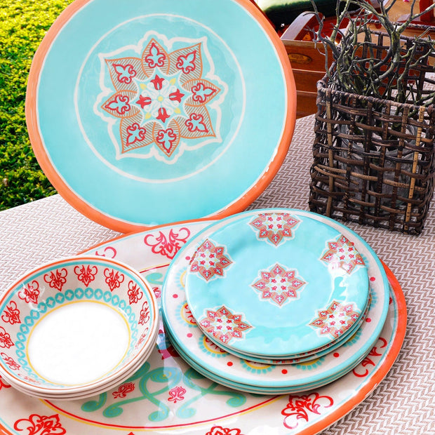 Western Motif 10-PC Melamine Dinnerware Set