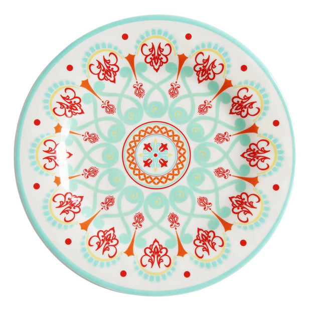 Western Motif 4-PC Melamine Dinner Plate Set