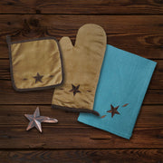 Star Design Print and Napkin Rings 18 PC Set
