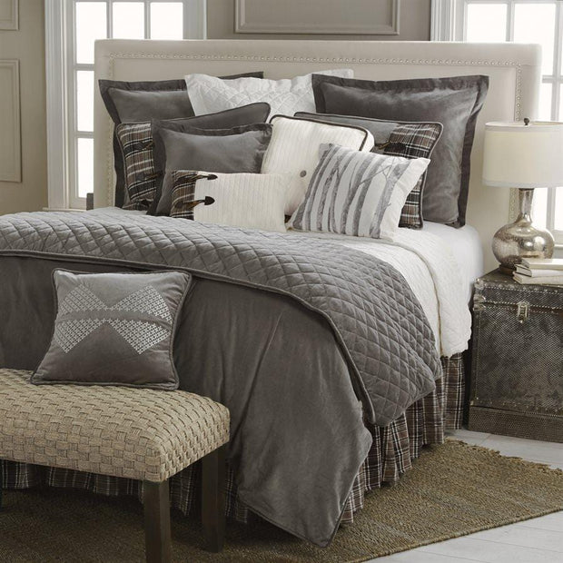 Whistler 4-PC Reversible Bedding Set, Gray & Cream