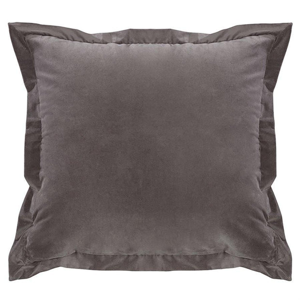 Whistler Soft Charcoal Gray Velvet Euro Sham