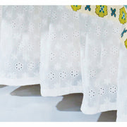 "White Eyelet Bed Skirt (16"" Drop)-Bed Skirt-HiEnd Accents"