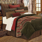 Wilderness Ridge Knitted Throw Blanket - Tan/Red/Green