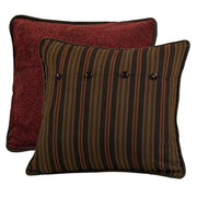 Wilderness Ridge Red Chenille & Stripe Reversible Euro Sham