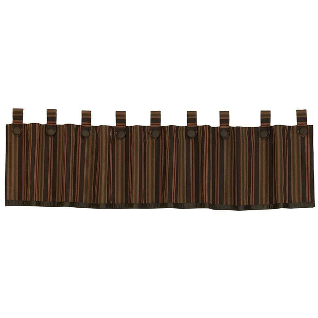 Wilderness Ridge Striped Tab-Top Kitchen Valance