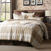 Wilson 3-PC Plaid Bedding Set, White & Khaki