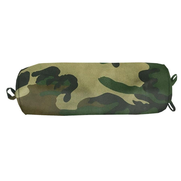 Woodland Camo Neckroll Pillow, 18x8