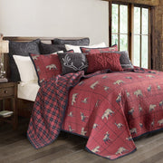 Woodland Plaid 3 PC Reversible Quilt Set