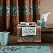 Wyatt Turquoise Scroll 3-PC Bath Towel Set, Mocha