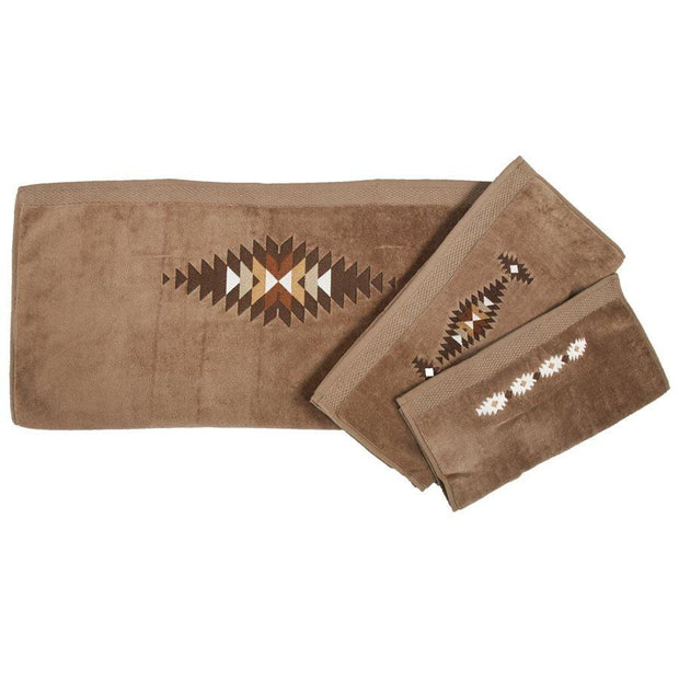 Yosemite Embroidered 3-PC Bath Towel Set, Mocha