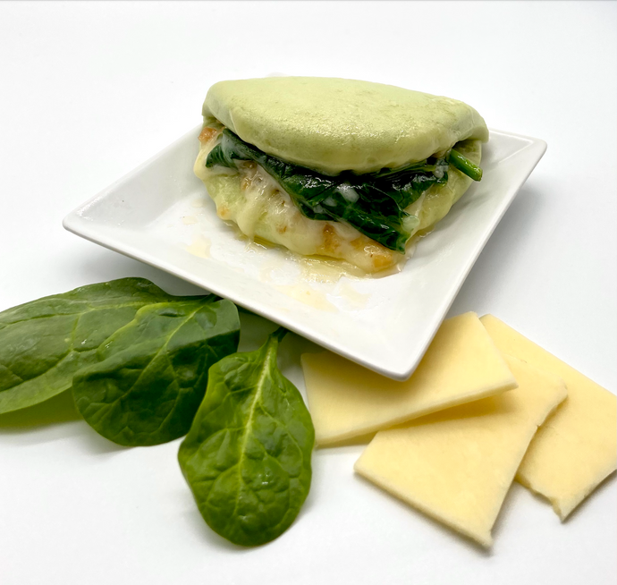 Cheese Spinach Lotus Bun Recipe