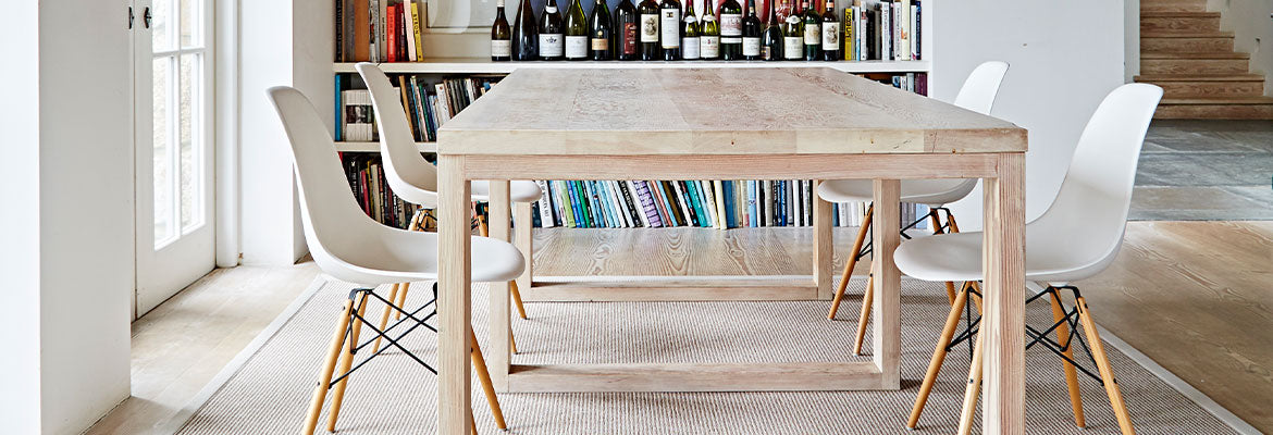 easy clean rug under dining table