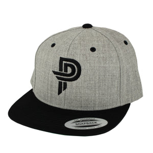 Heather/Black PP Snap Back Hat