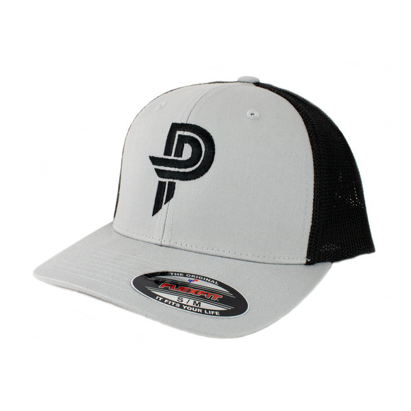 Silver/Black PP Flexfit Hat