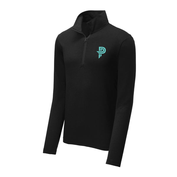 Mens Black 1/4 Zip Pullover