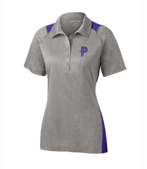 Ladies Heather Colorblock Contender™ Polo with Paige Pierce Logo