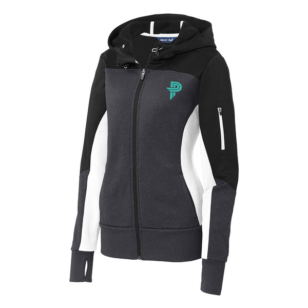 Ladies Full Zip Up Hoodie
