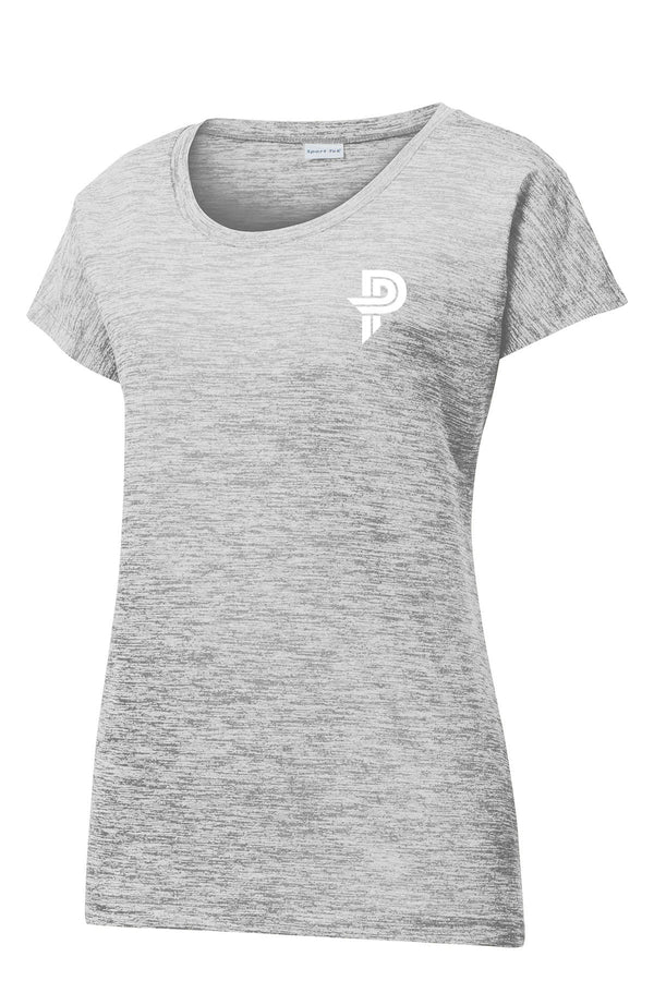 Ladies Electric Heather Sporty Tee with Paige Pierce Logo