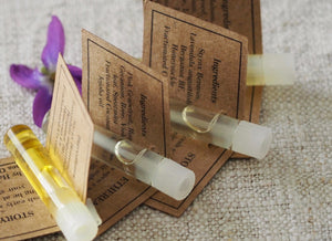 PERFUME OILSampler set of 4 Botanical vegan perfume oils