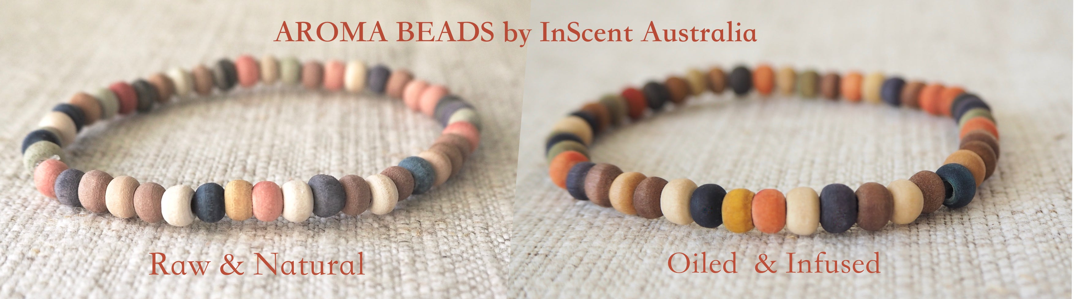 Aromabeads by InScent Australia hand made product combines beauty of Wood with power of Botanicals