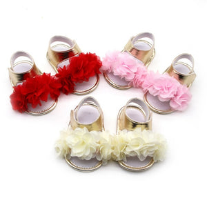 0-18M Summer Newborn Infant Baby Girl Princess Floral Sandals Sneakers Toddler Soft Crib Walkers Shoes