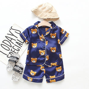 Children Pajama Sets Cute Bear Girls Clothing sets new Summer Baby Boys Sleepwear Pajamas Set Kids Sleepwear Toddler Boy Clothes
