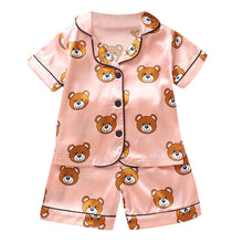 Load image into Gallery viewer, Children Pajama Sets Cute Bear Girls Clothing sets new Summer Baby Boys Sleepwear Pajamas Set Kids Sleepwear Toddler Boy Clothes