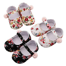 Load image into Gallery viewer, Baby Shoes Girl Breathable Floral Print Anti-Slip Shoes Casual Walking Shoe Toddler Soft Soled First Walkers