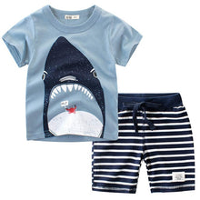Load image into Gallery viewer, 2019 Summer Kids Baby Boys Clothes Sets 2pcs Cartoon Children Clothing T Shirt Short Pants Sport Suit Outfit 1 2 3 4 5 6 7 Years