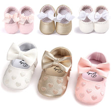 Load image into Gallery viewer, Cute bow sweet and comfortable ROMIRUS Baby Girl Bowknot Leater Shoes Sneaker Anti-slip Soft Sole Toddler F5