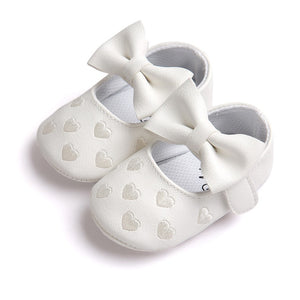 Cute bow sweet and comfortable ROMIRUS Baby Girl Bowknot Leater Shoes Sneaker Anti-slip Soft Sole Toddler F5